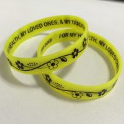 2 sides printing silicone wristbands