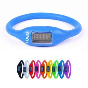 Blue with white logo pedometer