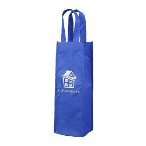 Royal blue bag with white Logo