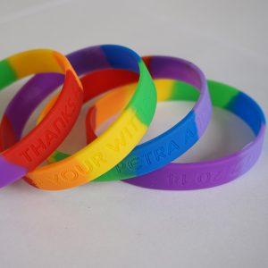 segment deboss wrist bands