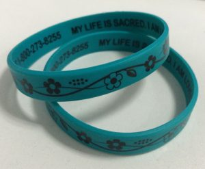 2 sides printed silicone bands for promotion
