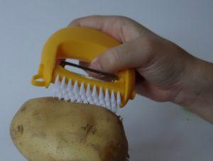 Vegetable brush custom Logo