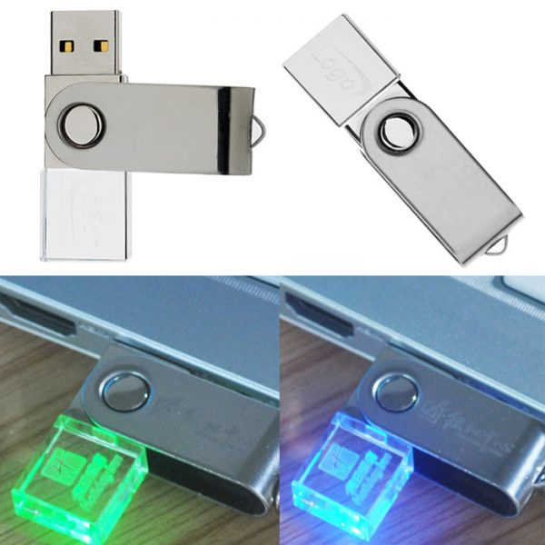 Crystal Swivel USB with Lighting 4GB
