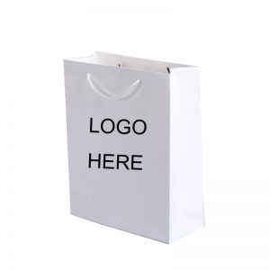 Medium White Paper Bag with Logo
