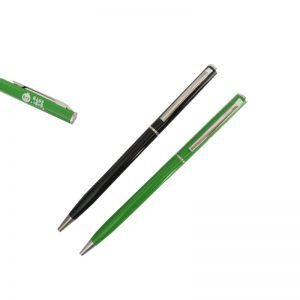 Silm twist metal pen