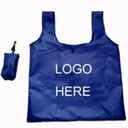 Royal Blue Nylon Shopping Bag