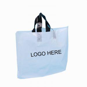 Clear Logo printed shopping bag