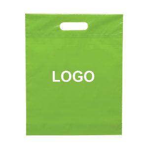 Die cut platic shopping bag